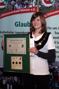 Isabell Hoffmann nach der Siegerehrung 2010 in Coesfeld